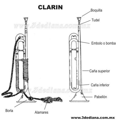 clarin-1 FICHA TÉCNICA DEL CLARÍN DE ARTILLERIA PARA BANDA DE GUERRA  De todo